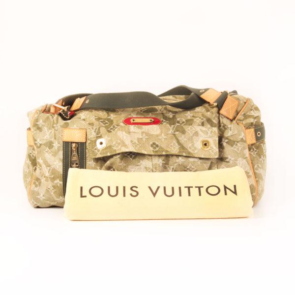 Imagen del dustbag de la bolsa louis vuitton denim verde