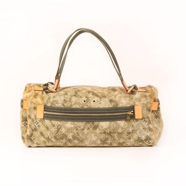 Imagen trasera de la bolsa louis vuitton denim verde