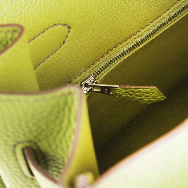 Imagen de la cremallera del bolso hermes birkin 35 anis