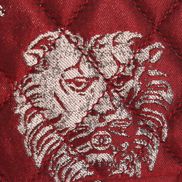 Lion face image of chanel brocade bag