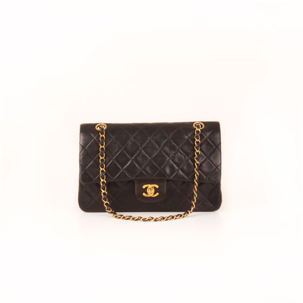 Front 1 image of chanel classic black vintage bag