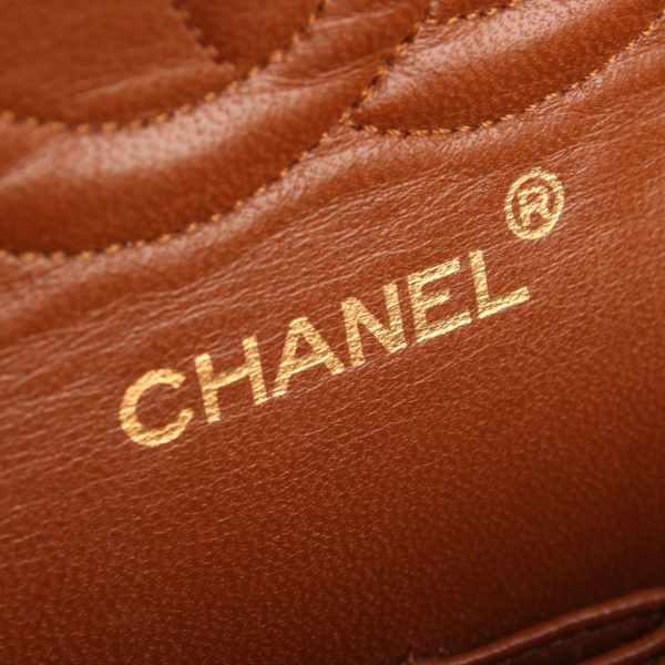 Imagen de la marca del bolso chanel double flap marron