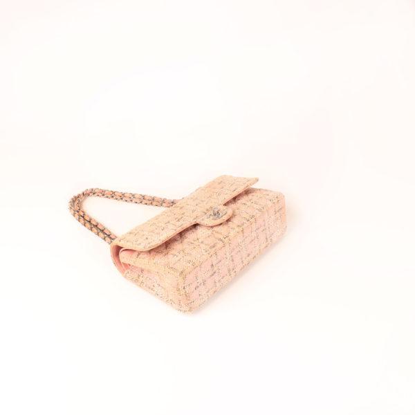 Imagen general del bolso chanel tweed rosa