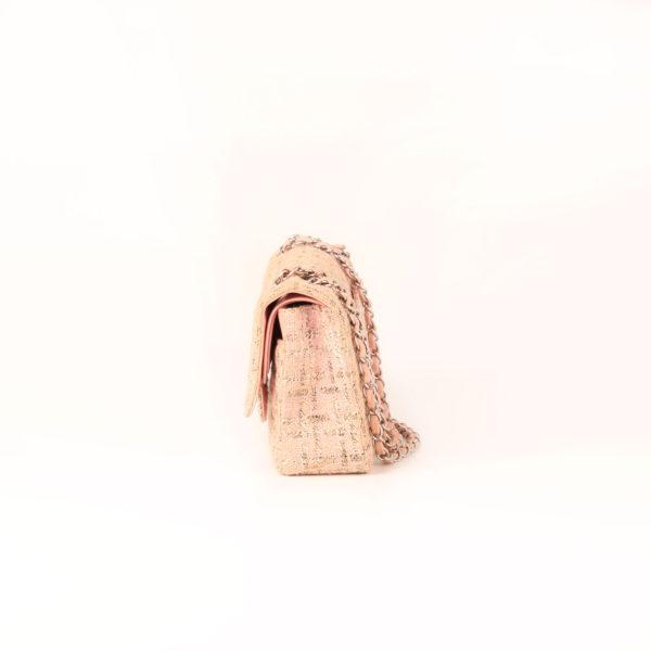 Imagen del lado 2 del bolso chanel tweed rosa