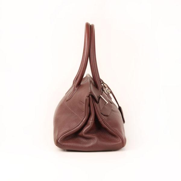 Imagen del lado 2 del bolso hermes shoulder marron