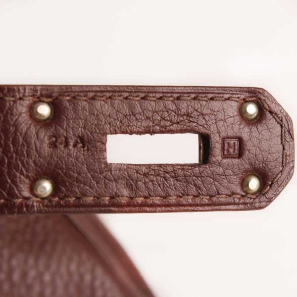 Imagen del serial del bolso hermes shoulder marron