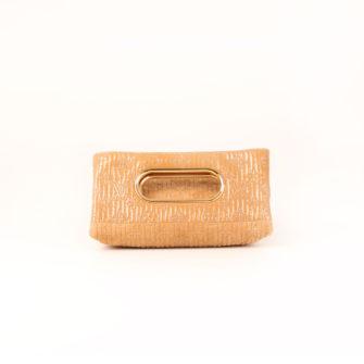Imagen frontal del bolso louis vuitton dark beige