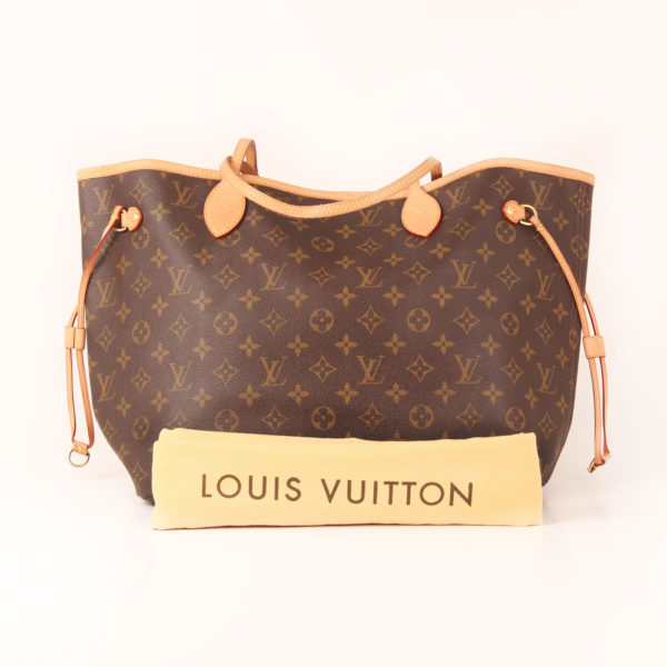 Dustbag image of louis vuitton bag neverfull monogram mm