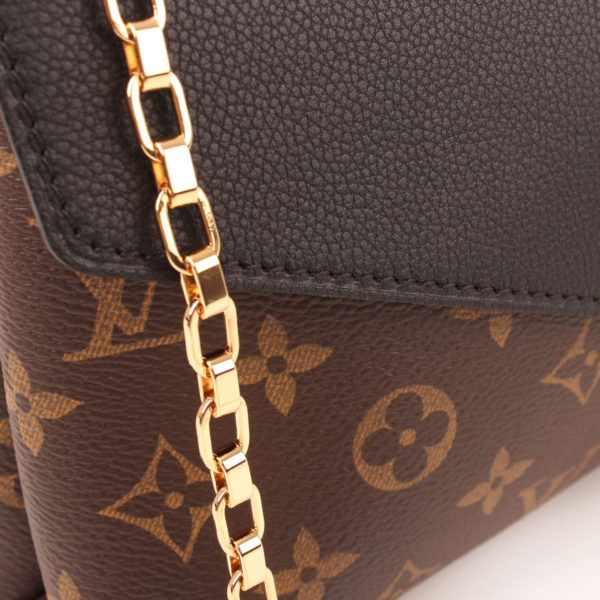 Chain image of louis vuitton bag pallas black monogram