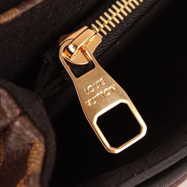 Zip image of louis vuitton bag pallas black monogram interior