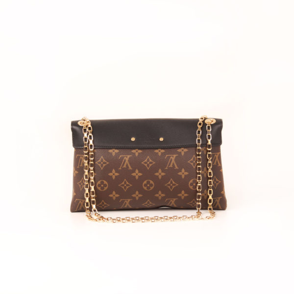 Back image of louis vuitton bag pallas black monogram