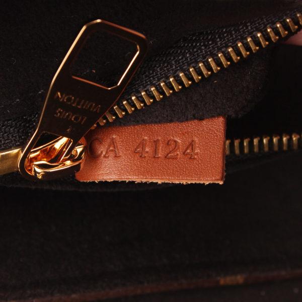 Imagen de la etiqueta del bolso louis vuitton pallas negro monogram