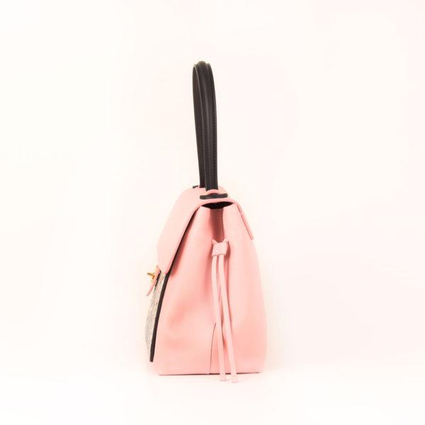 Imagen del lado 2 del bolso lv lockme rosa