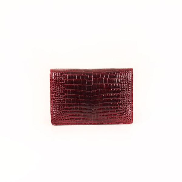 Imagen trasera del bolso gucci vintage croco