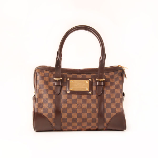 Front image of louis vuitton berkeley damier bag