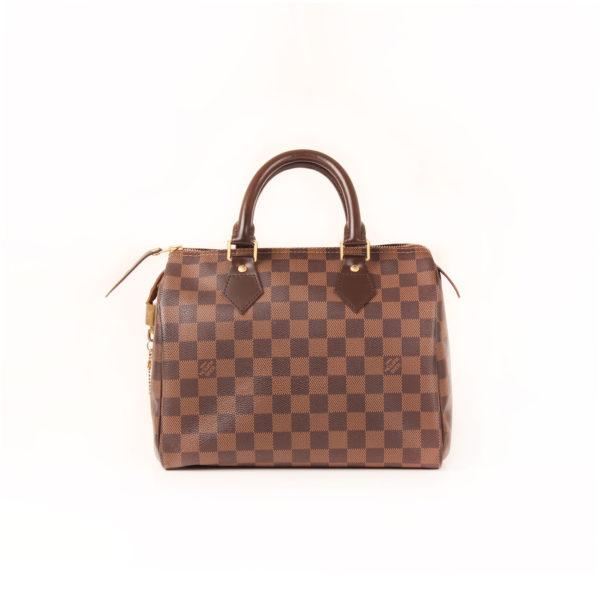 Back image of louis vuitton speedy damier bag