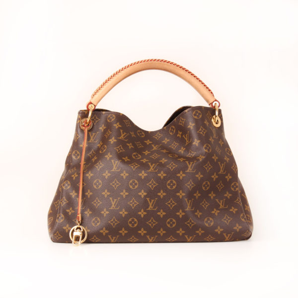 Front image of louis vuitton artsy bag monogram
