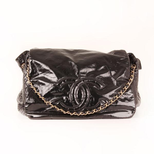 Imagen frontal 2 del bolso chanel patent negro