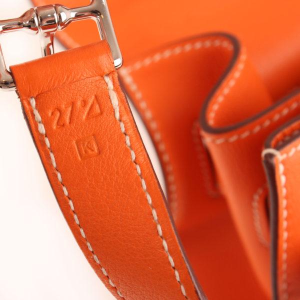Imagen del serial del bolso kelly flat 35 naranja