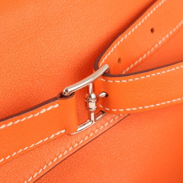 Imagen del cierre 2 del bolso kelly flat 35 naranja