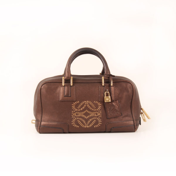 Front image of loewe amazona mini bag