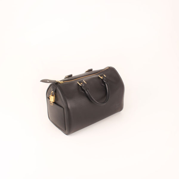 Imagen general del bolso louis vuitton speedy 28 epi negro