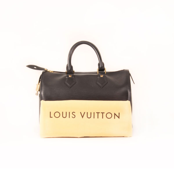 Imagen del dustbag del bolso louis vuitton speedy 28 epi negro