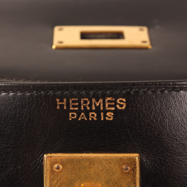Imagen de la firma del hermes kelly 35 negro vintage