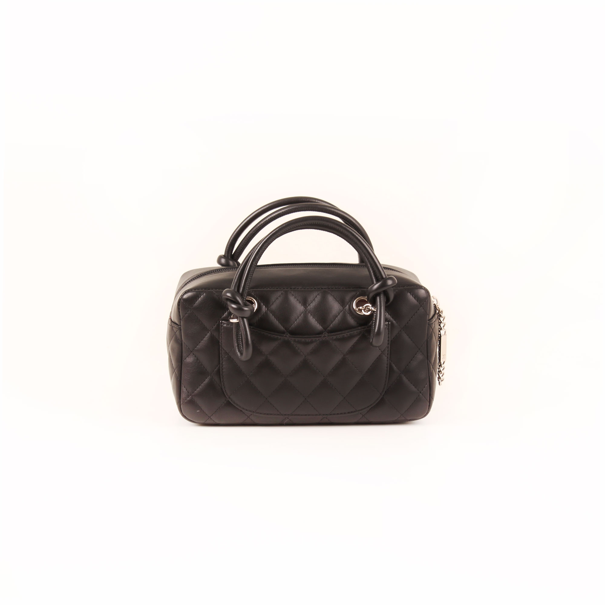 8ee97018083a Chanel Bag Black Quilted Cambon Mini Tote Bag