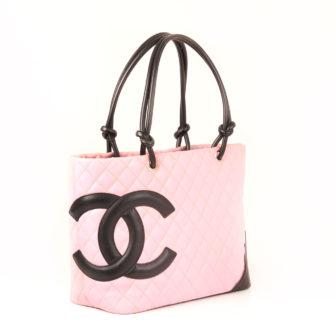 Imagen general del bolso chanel cambon rosa