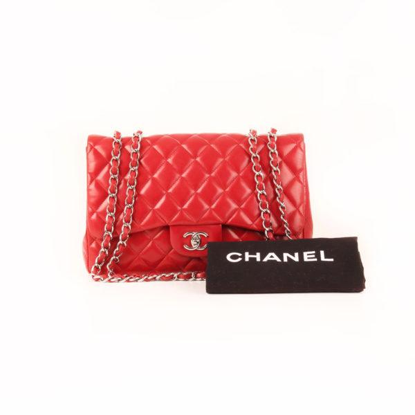 Imagen del dustbag del bolso chanel jumbo rojo