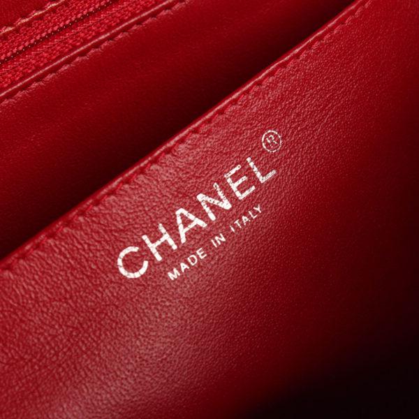 Imagen de la marca del bolso chanel jumbo rojo