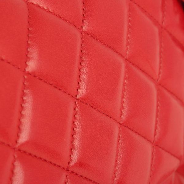 Imagen de la piel bolso chanel jumbo rojo