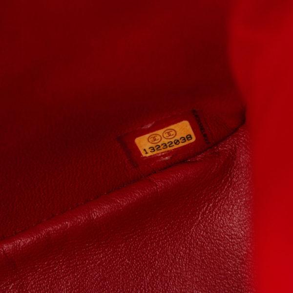 Imagen del serial del bolso chanel jumbo rojo