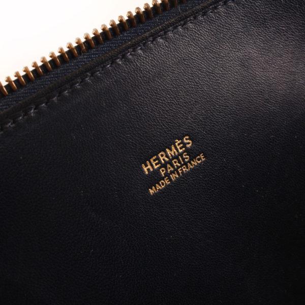 Imagen de la marca del bolso hermes bolide azul