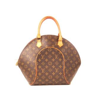 Imagen frontal del bolso louis vuitton ellipse monogram