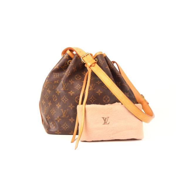 Imagen del dustbag del bolso louis vuitton noe monogra