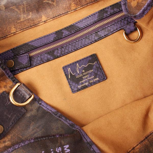 Imagen de la etiqueta del bolso louis vuitton prince