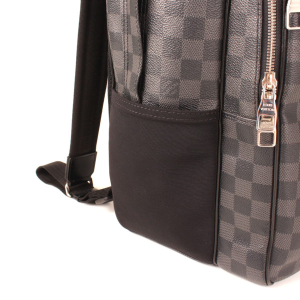 Side image of louis vuitton backpack michael