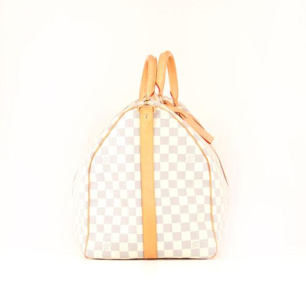 Imagen del lado 2 de la bolsa de viaje louis vuitton keepall 55 damier azur