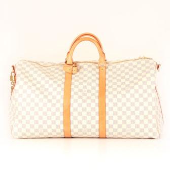 a5b062629c81 Louis Vuitton Travel BagKeepall 55 Damier Azur