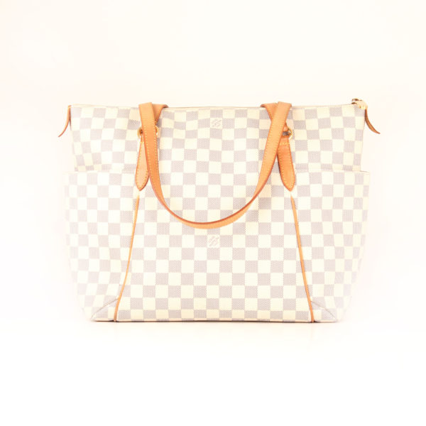 Front image of louis vuitton totally bag damier azur