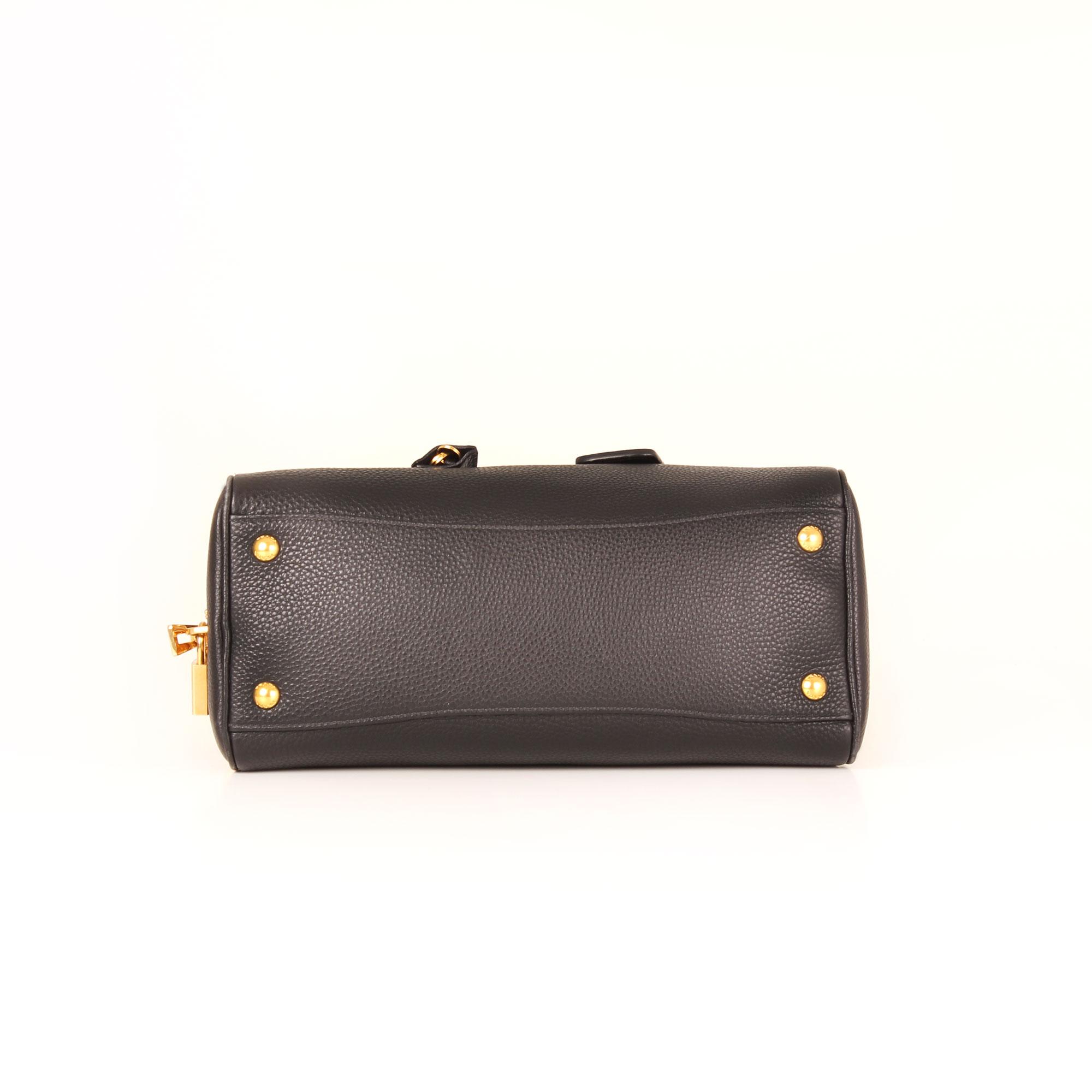 426240cbbf5a4 Prada Vitello Daino Black leather