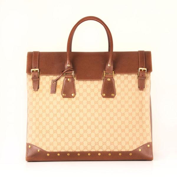 gucci-travel-bag-gg cavas front