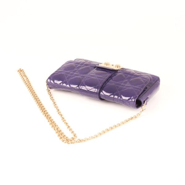 Imagen de la cadena del bolso dior promenade purple bag
