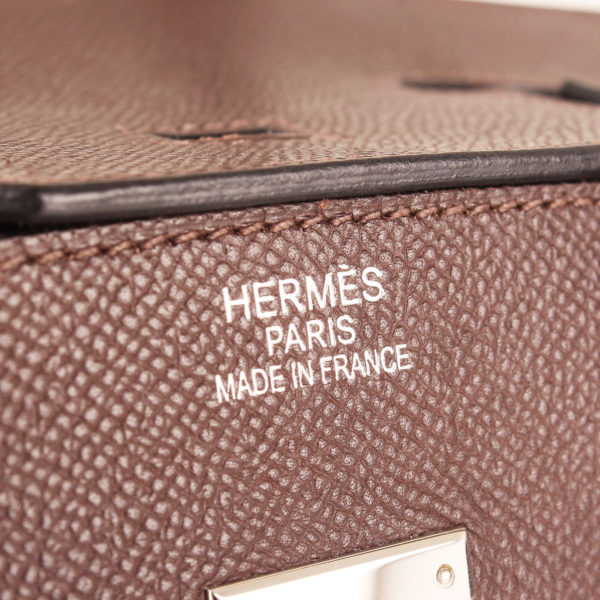 Imagen de la marca del bolso hermes birkin 35 choco