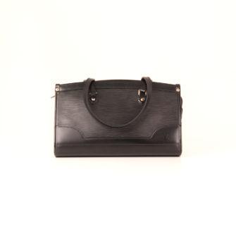 41af20954592 bag-louis-vuitton-madeleine-epi-black-front ...