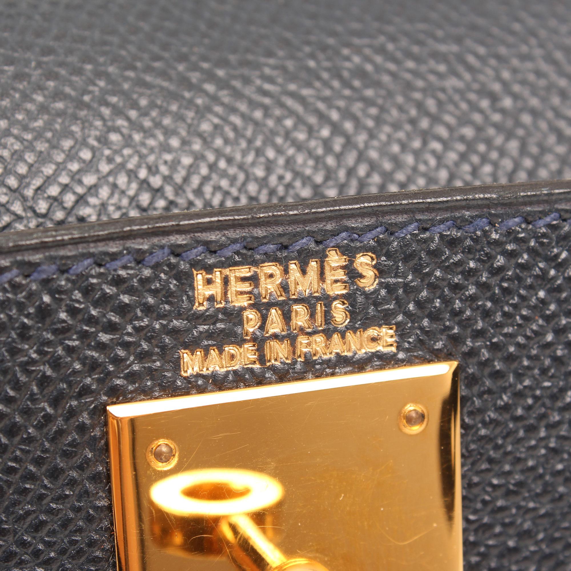 Imagen de la marca del bolso hermes kelly 28 piel epsom azul