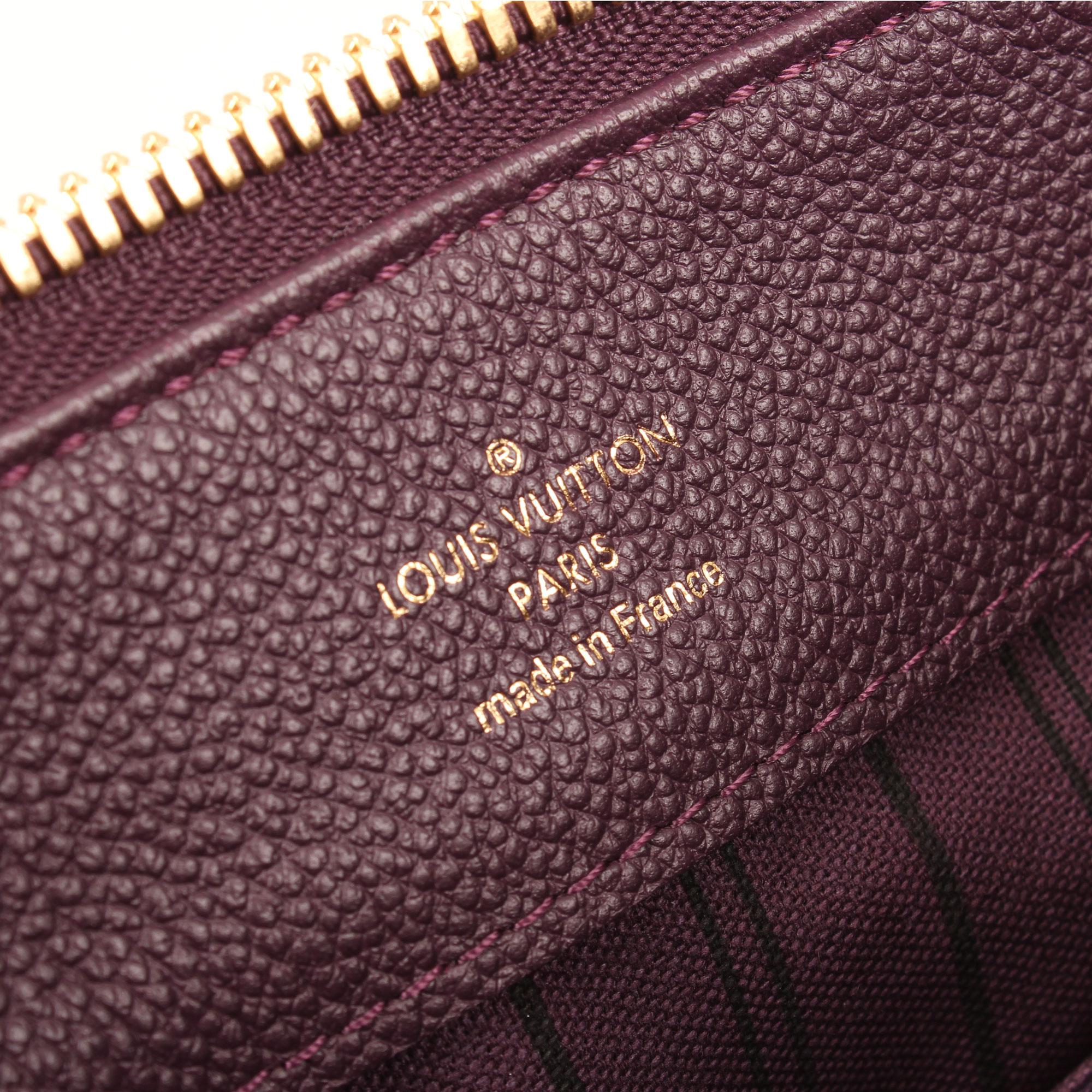 Imagen de marca del bolso louis vuitton audacieuse embossed monogram suede berenjena