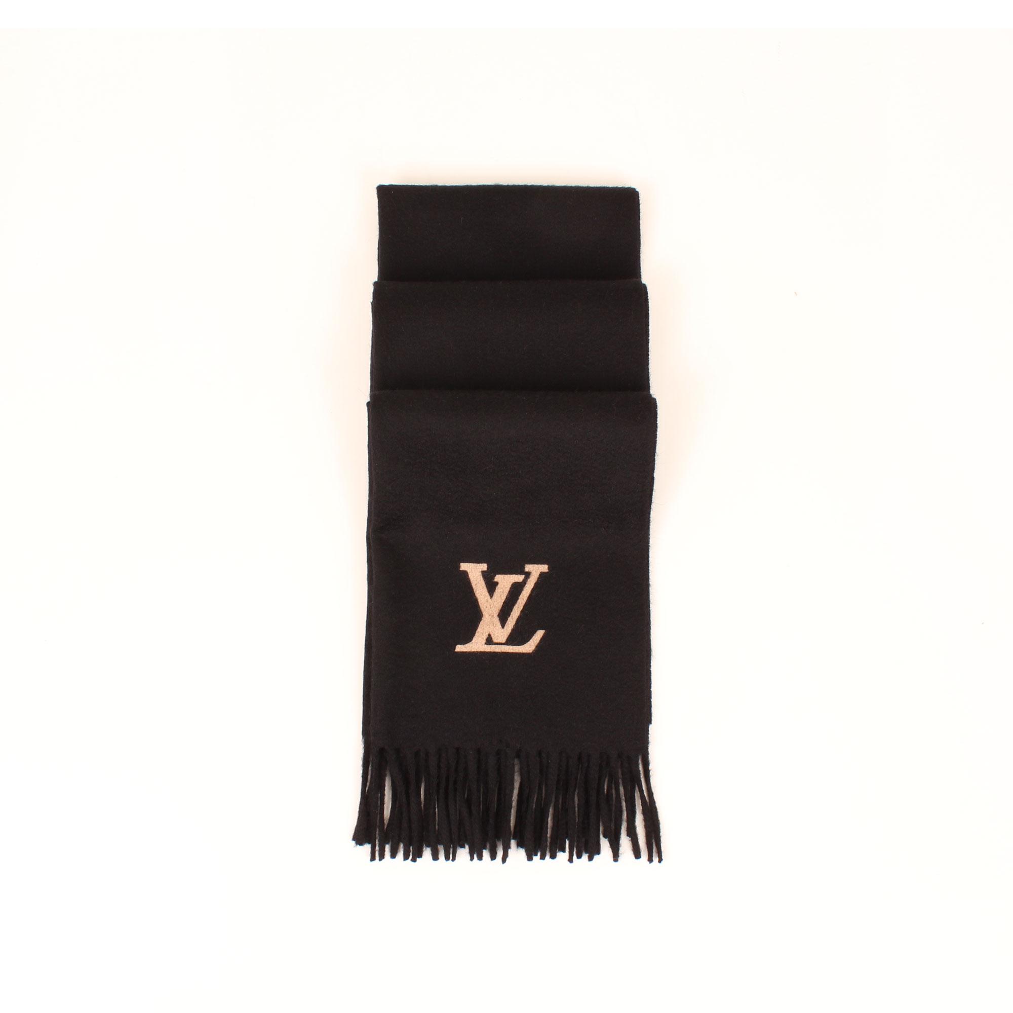 bufanda-louis-vuitton-cashmere-jehlam-negra-pliegues